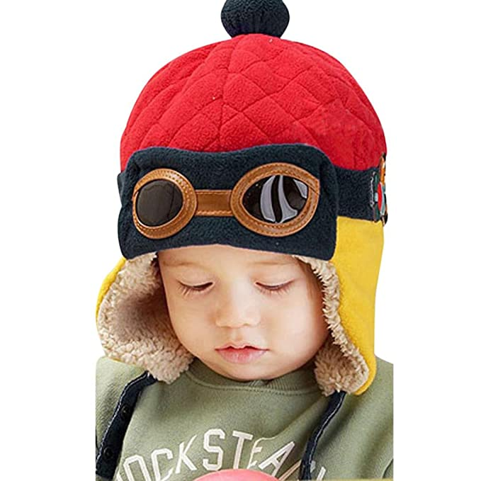Wintermütze URSING Baby Jungen Winter Warm Deckel Hut Mütze Pilot ...