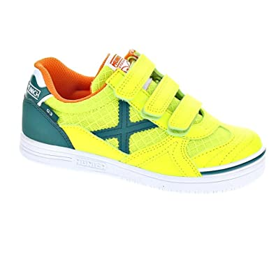 Munich Sport G-3 Indoor VCO - Zapatillas Niño Amarillo Talla 26: Amazon.es: Zapatos y complementos