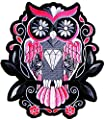 "8.5""x9.5"" Big Jumbo Large Diamond Owl Rose Punk Rock Retro Hippie Motorcycles Chopper Lady Rider Biker Hog Outlaw Tatoo Back Jacket T-shirt Patch Sew Iron on Embroidered Sign Badge Costume"