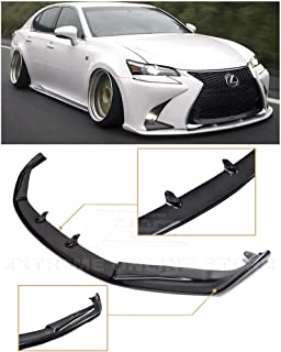 SK Style Unpainted PP Air Dam Chin Splitter Spoiler Lip by IKON MOTORSPORTS Front Bumper Lip Compatible With 2013-2015 Lexus GS350 GS450