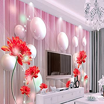 Lwcx Large Custom Wallpaper 3d Stereo Modern Dream Red Flower Living Room Bedroom Tv Background Wall Decoration 200x140cm Amazon Com
