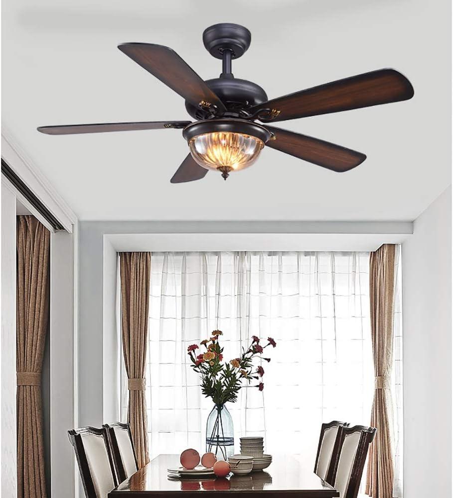 Deckenventilator Mit Beleuchtung Fan Kronleuchter Retro Deckenventilator Licht LOFT Industrie Restaurant Haus Wohnzimmer Schlafzimmer Size : 108cm