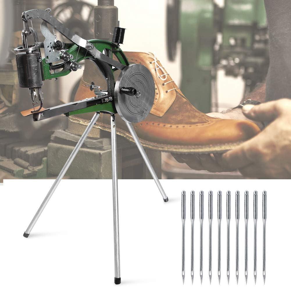 FEIFUSHIDIAN Apretado Manual de Reparación de Calzado Máquina, Manual Tipo de Mano semiautomática Metal Algodón Línea/Nylon Reparación de Calzado Máquina de Coser Angular
