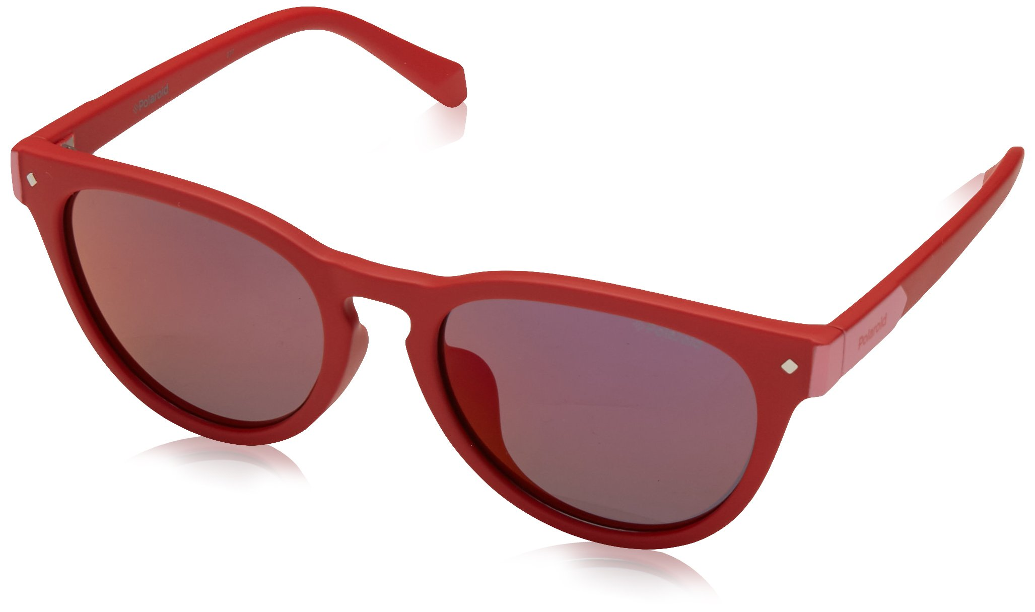 Polaroid Sunglasses Girls' Pld8026fs Polarized Oval Sunglasses, RED, 49 mm by Polaroid Sunglasses (Image #1)