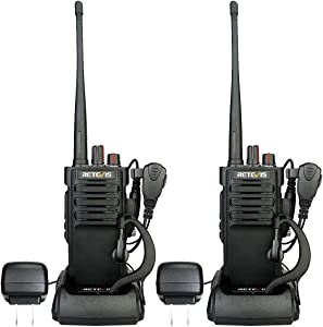 Retevis RT29 Walkie Talkies for Adults Long Range,Heavy Duty 2 Way Radios,3200mAh Battery High Power Two Way Radio with Earpiece(2 Pack)
