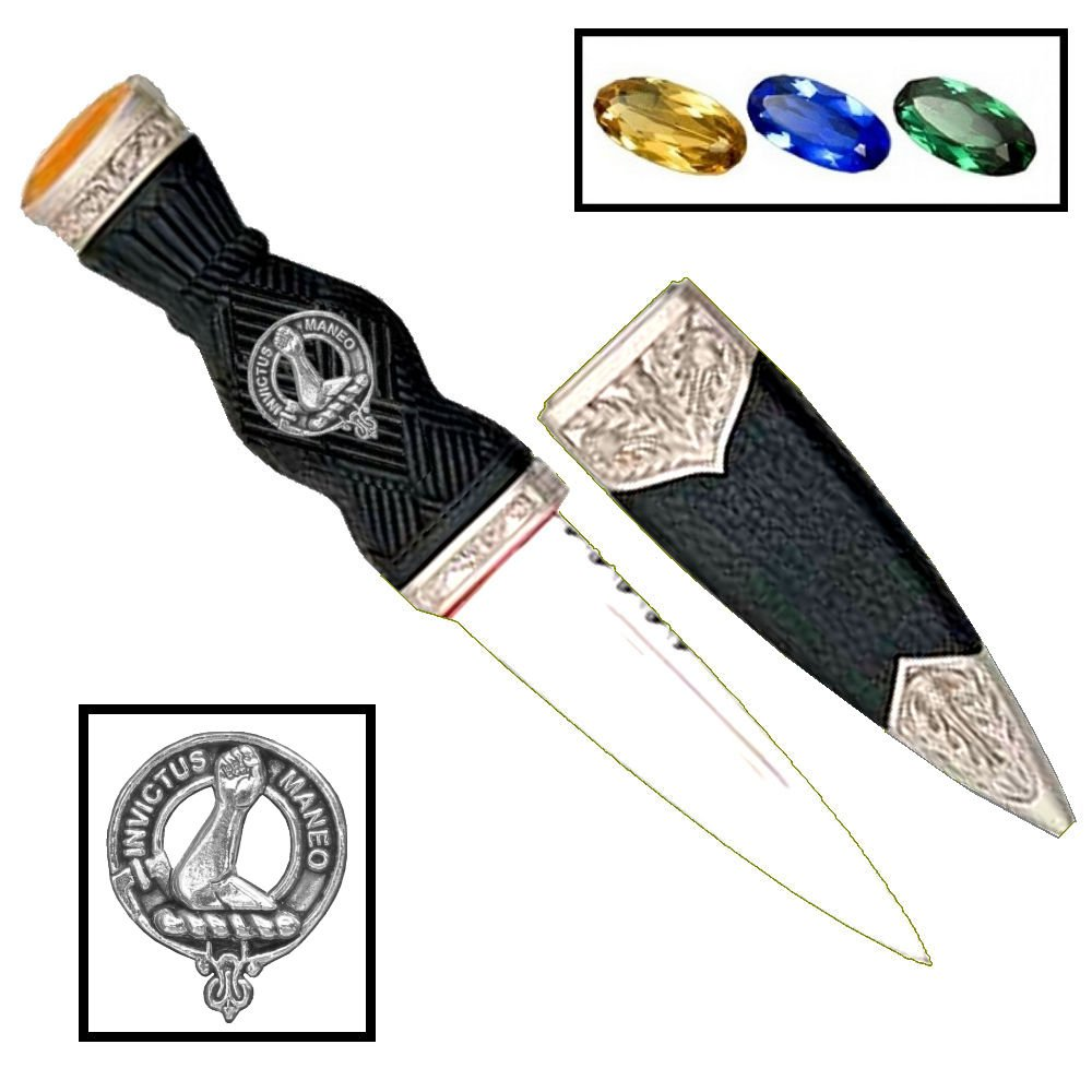 Scottish Clan Crest Sgian Dubh ~ Armstrong