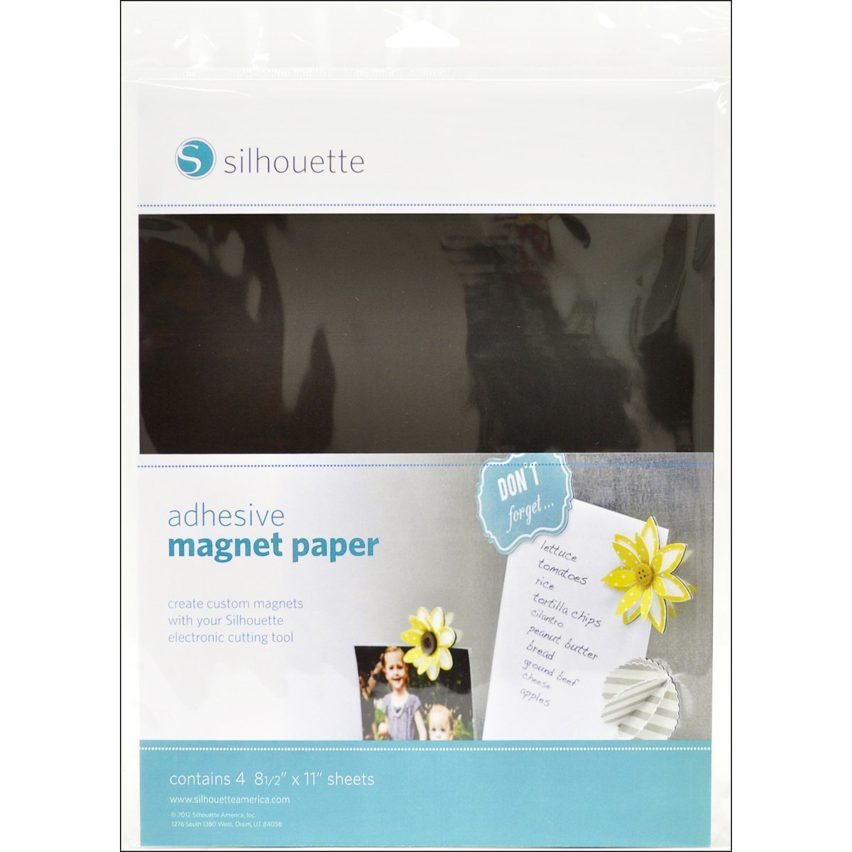 Silhouette Adhesive Magnet Paper (pack of 6)