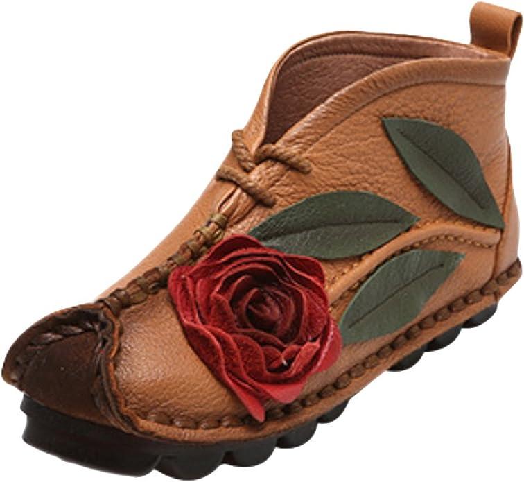 Vogstyle Damen Blumen Handgemachte Weich Sole Schuhe: Amazon