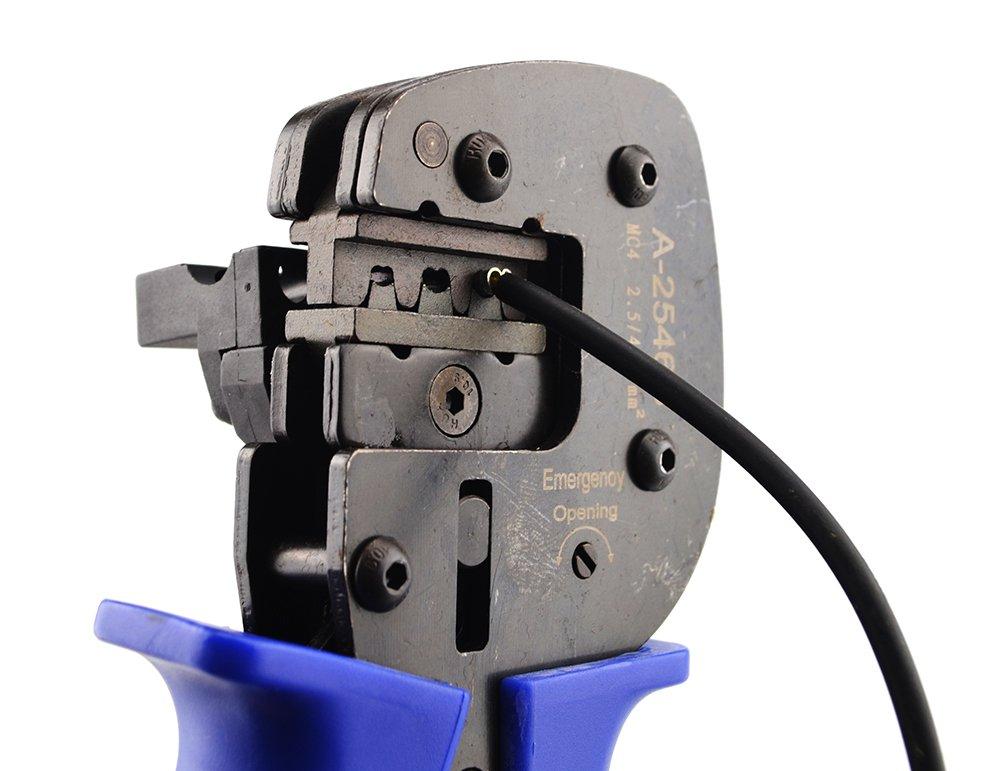 MC4//à sertir outils Pince /à sertir pour c/âbles de connecteurs de panneau solaire PV avec de d/écapage et fonction de coupe 26/–10/AWG