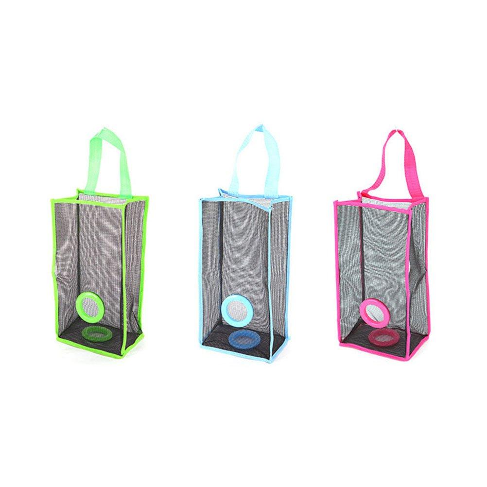 BESTOMZ Organizador de bolsas de plástico Dispensador Bolsas De Basura en Malla Dispensador de bolsas de plástico para la cocina: Amazon.es: Hogar