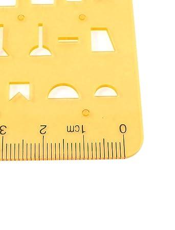 R Kunststoff Kreisschablone Studium Malen Rechteck Form Schablone Lineal Vorlage klar gr/ün de sourcingmap