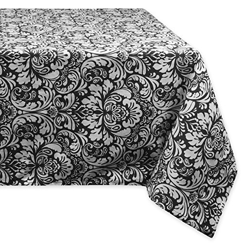 DII 100% Cotton, Machine Washable, Everyday Damask Kitchen Tablecloth For Dinner Parties, Summer & Outdoor Picnics - 60x84