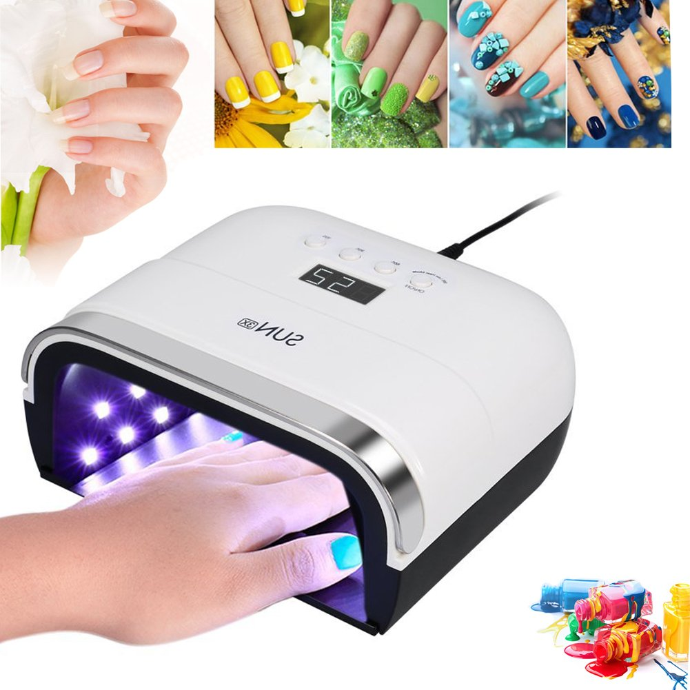 Nail Dryer, UV LED Gel Polish Curing Lamp Machine with 4 Timer Setting & Detachable tray for Fingernail & Toenail Brino