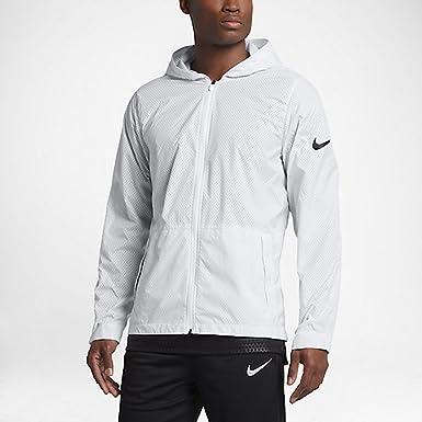 e89ce19f63ca Nike Men s Hyper Elite All Day Full Zip Basketball Jacket (Size 3XL) White