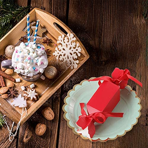 50 pcs Boites Cadeau No/ël d/écoratives Avec 50 Pcs ruban bonbons pour No/ël cupcakes de g/âteaux biscuits bo/îtes de friandises d/écoratives bo/îtes de friandises Thanksgiving,les vacances S