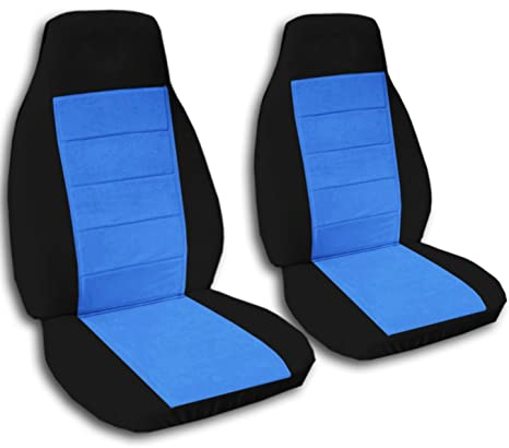 Superb Two Tone Car Seat Covers Black Light Blue Semi Custom Fit Front Will Make Fit Any Car Truck Van Suv 21 Colors Ibusinesslaw Wood Chair Design Ideas Ibusinesslaworg