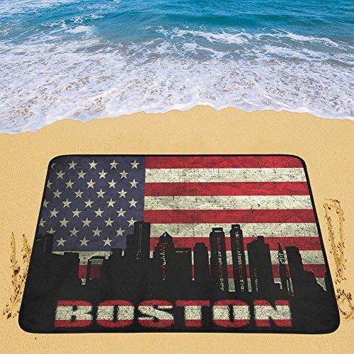 Happy More Custom Boston City on the American Flag Portable & Foldable Mat 60x78 inch