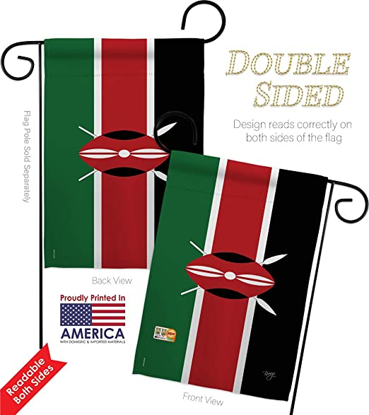 Amazon Com Nationality Kenya Garden Flag Set With Stand Regional Nation International World Country Particular Area Small Decorative Gift Yard House Banner Double Sided Made In Usa 13 X 18 5 Garden Outdoor