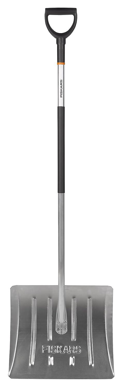 Fiskars Recogedor de nieve - Aluminio, Ancho de pala: 44 cm, Material sintético/Aluminio, Negro/Plata, 1001636