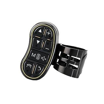 Universal reproductor de DVD GPS Teléfono Móvil Tecla de control de volante botón de control con interruptor de volumen de audio Bluetooth: Amazon.es: Coche ...