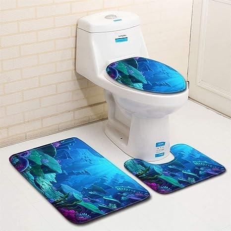 Bathroom Mat Carpets Eco-Friendly Home Doormat Machine Made Bath Seat Cover Pads