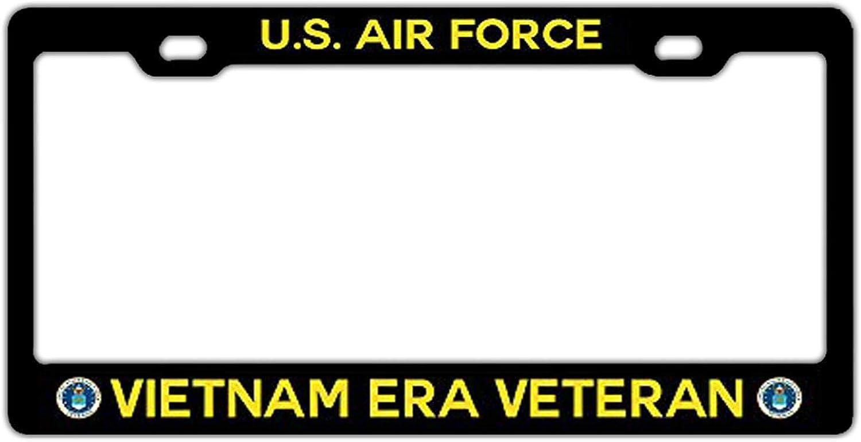 Auto Car US Standard Aluminum Metal Custom License Plate Frame Hopess Black License Plate Frame Women//Men