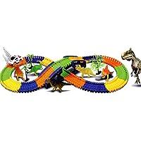 GALOOK Pista de Coches Juguetes, Dinosaurios Circuito Coches