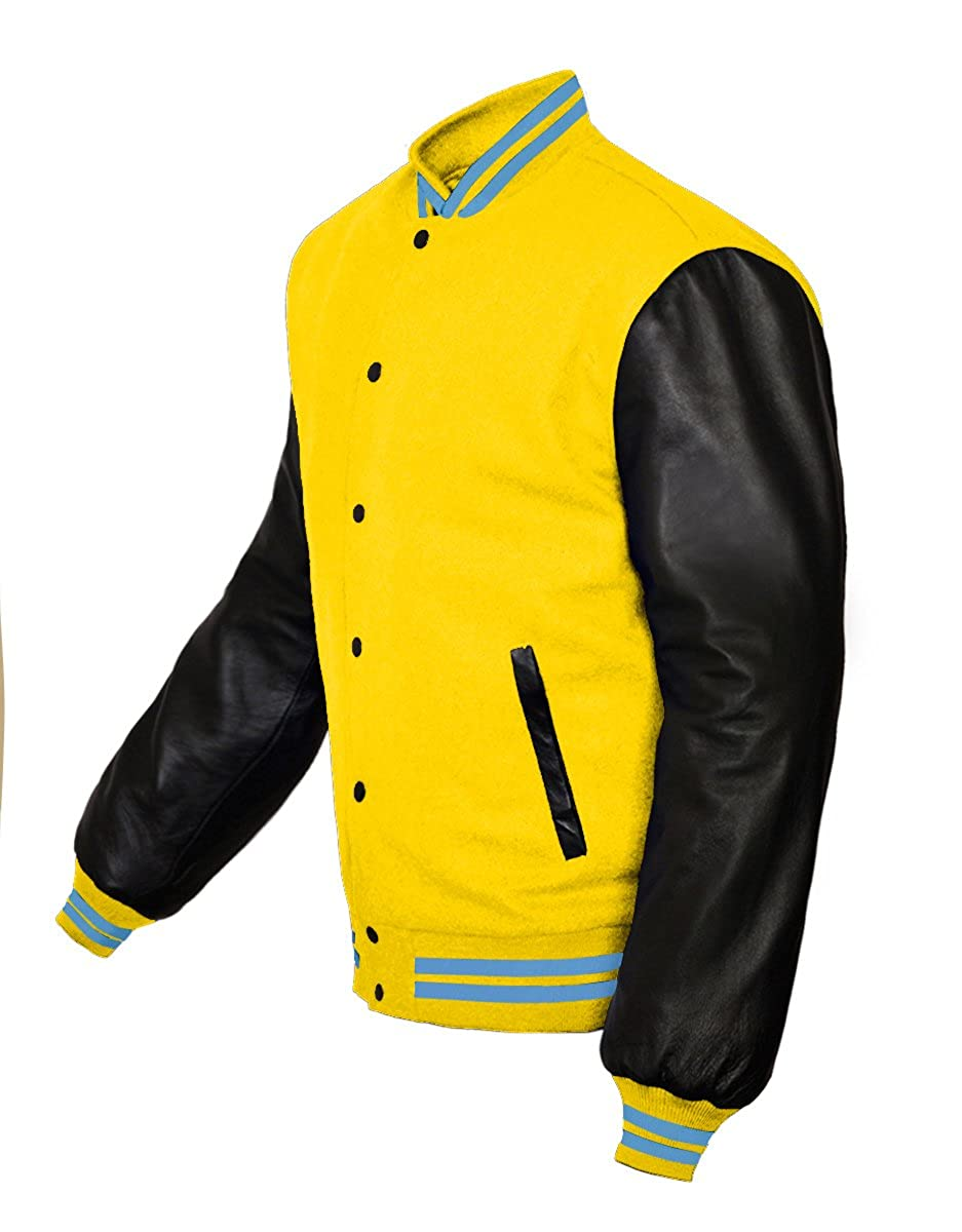 Original American Varsity Real Leather Letterman College Baseball Kid Wool Jackets #B-LBL