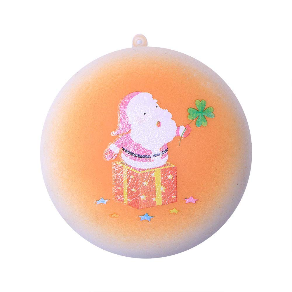 Homeparty Christmas Santa Claus Slow Rising Scented Relieve Stress Toy Key Pendant