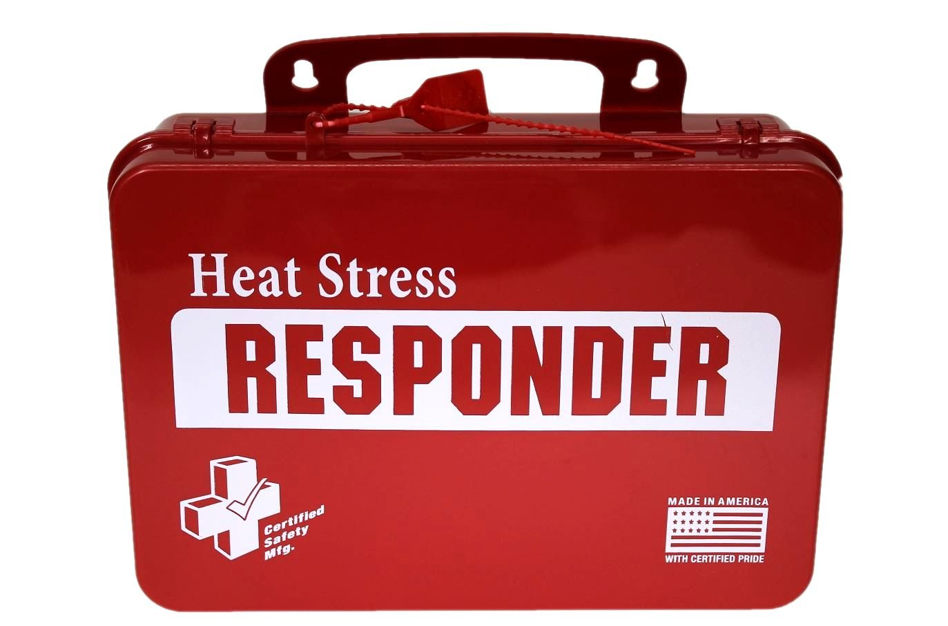 Certified Safety K613-040 18PR Heat Stress Responder Standard First Aid Kit, Poly Red by Certified Safety