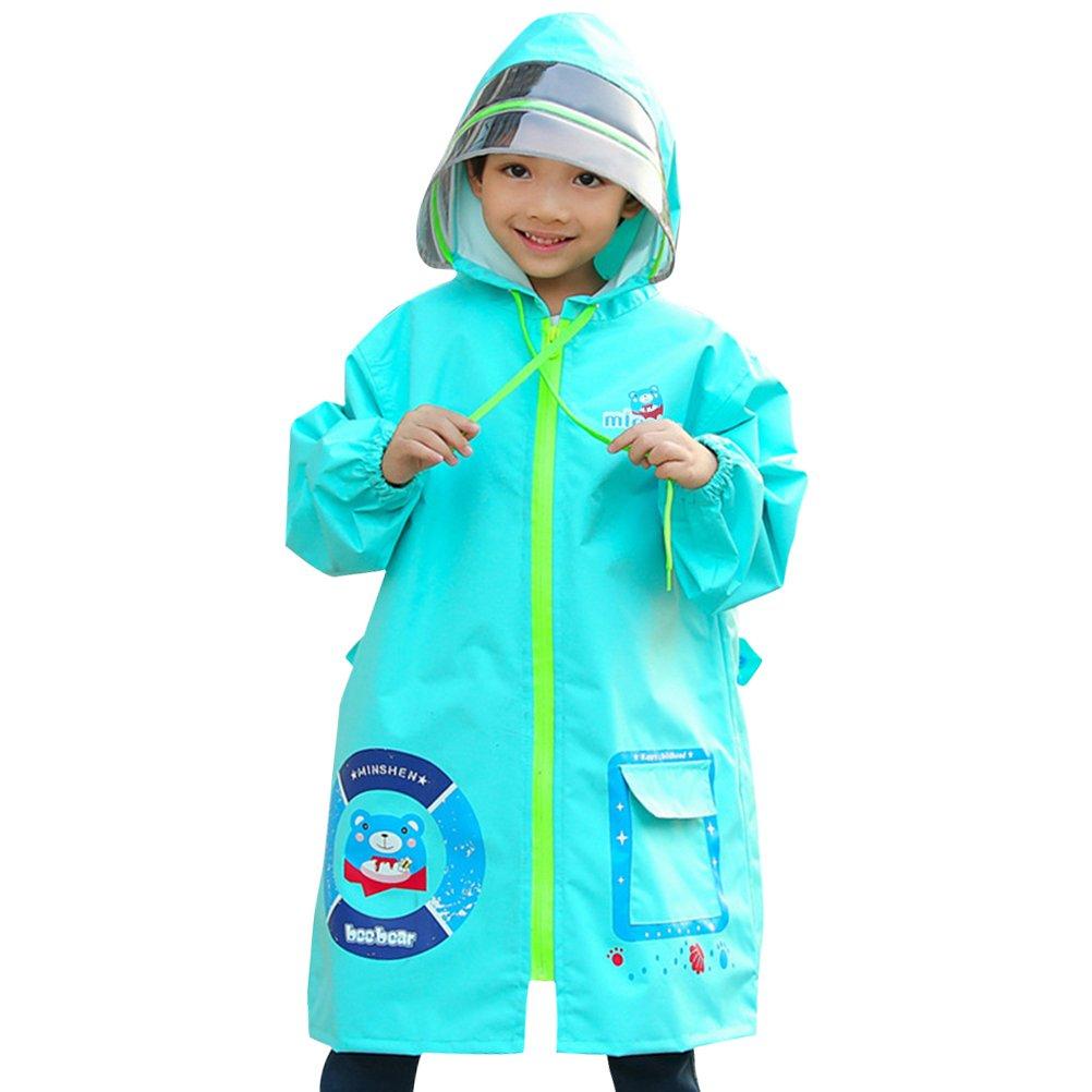 Zhhlaixing Ragazzi Ragazze Stampa Impermeabile Raincoat Resistente All'acqua Zip Up Poncho Giacca da Pioggia per Outdoor e Rainy Day