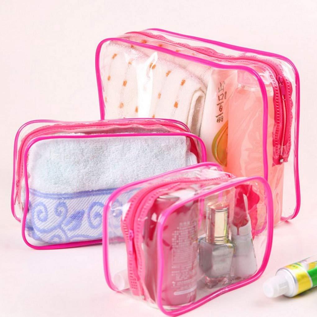 Jinzuke Las Mujeres de m/últiples Funciones al Aire Libre del Viaje Bolsa de cosm/éticos de Maquillaje ni/ñas con Cremallera Higiene Bolsa Impermeable