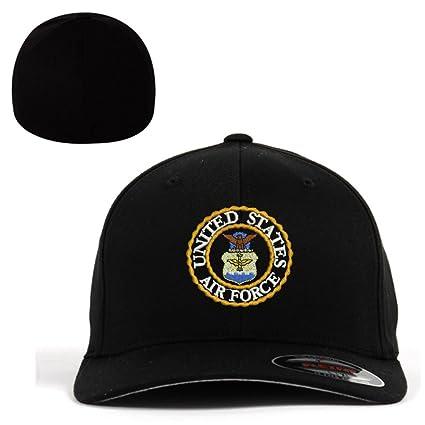 3a962866b37 Amazon.com  USAF U.S. Air Force Logo Flexfit Baseball Cap Military ...
