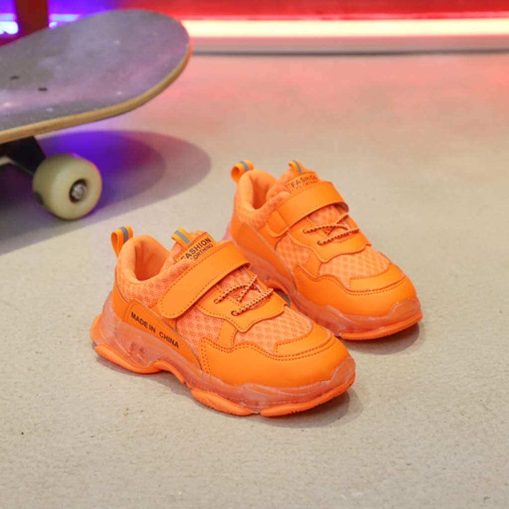 Kids Led Light Shoes Yezijin Children/Kid Baby Boys Girls Solid Mesh Led Luminous Sport Run Sneakers Shoes