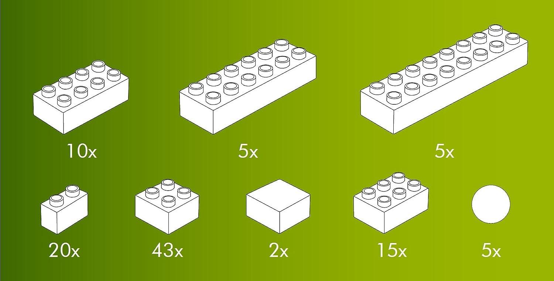 Hubelino 420053/ /A Partire da 4/Anni /105/Pezzi /Stazione ferroviaria/ /Set mattoncini Costruzioni/ / 100/% Compatibile con Duplo