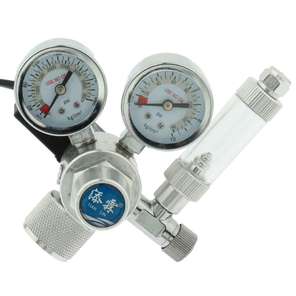 Kesoto Aquarium Plant Tank CO2 Regulator W21.8 110V Magnetic Solenoid Check Valve