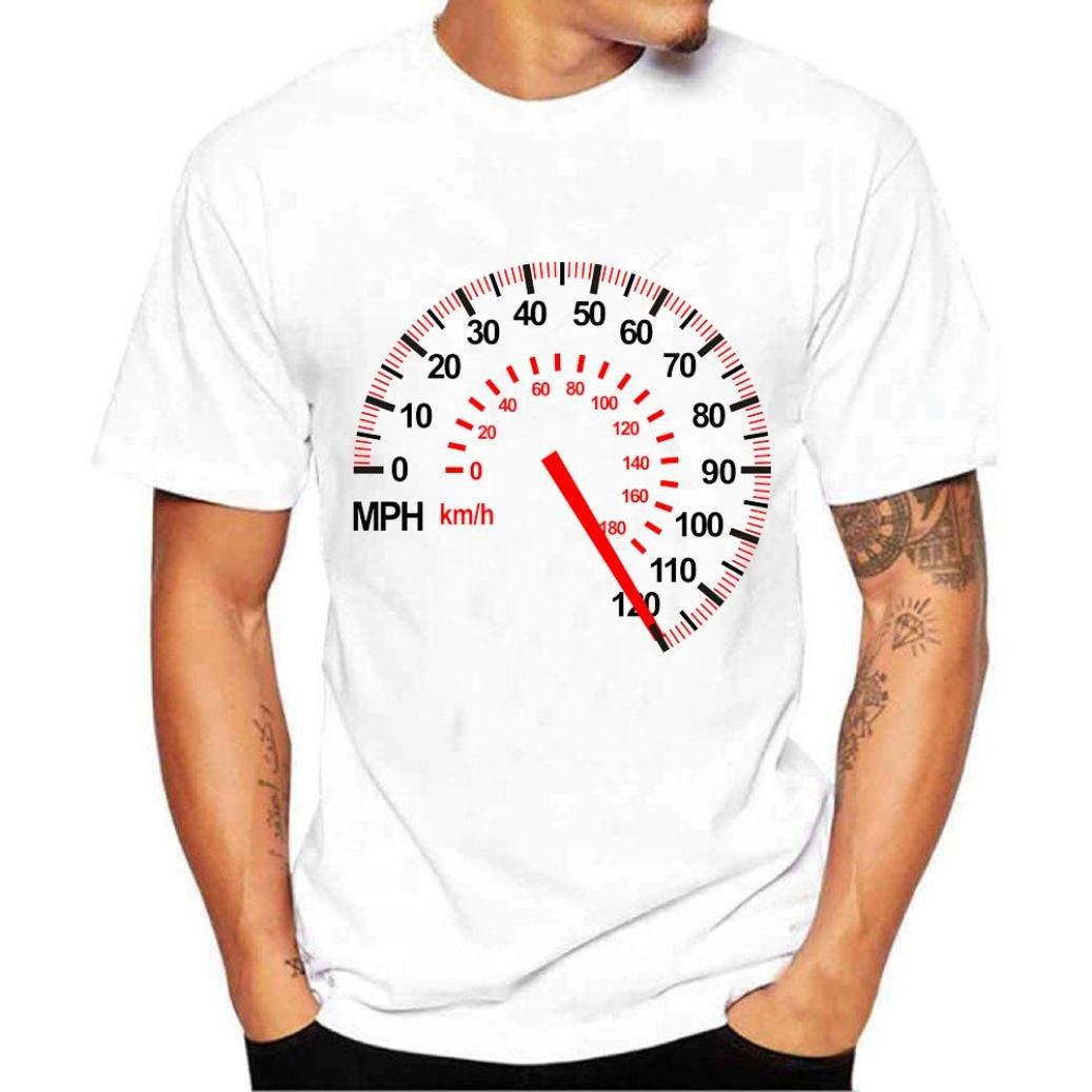 Longra T Shirt Herren Kurzarm T-Shirts Print-Shirts Rundhalsshirts Cool T-Shirt Sommer Top Bluse Streetwear Shirt  Bluse Mauml;nner Regular Fit T-Shirt Basic T-Shirt Weiszlig;  L|White 01