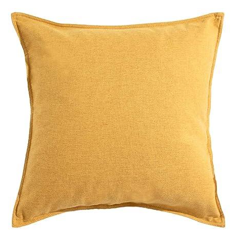 Sofá almohada algodón y lino color sólido simple almohada ...