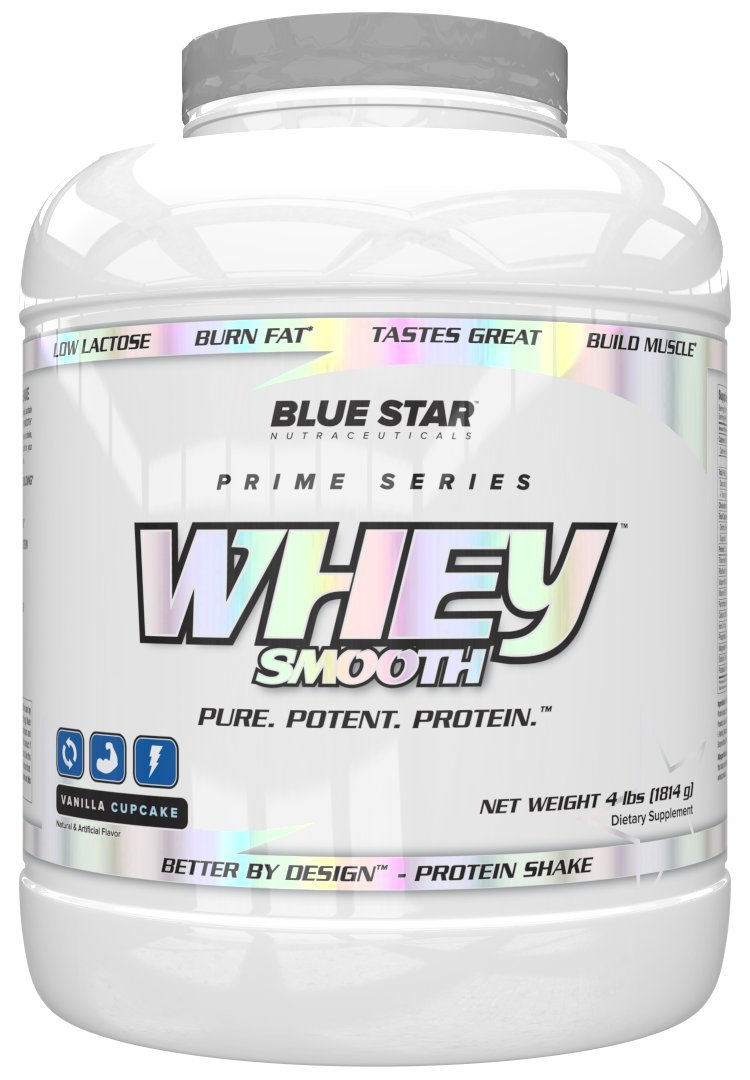 Blue Star Nutraceuticals, Whey Smooth, Protein Vanilla Cupcake 4lbs by Blue Star Nutraceuticals