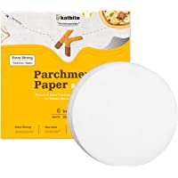 Katbite Parchment Paper Rounds - 200, 6 Inch, 8''9''10''12'' Parchment Rounds for Cake Baking, Patty Separating, Patty…