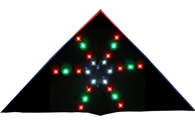 HENGDA KITE 48 LED Fireworks Night Kite Soft Cloth Umbrella Super Bright LEDs Luminous Kite by HENGDA KITE