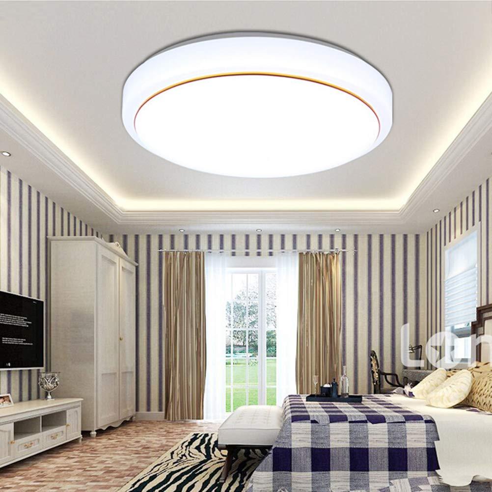 浴室シーリングライト屋内フラッシュマウント天井ランプ超薄型現代6500 kナチュラルホワイトスーパー明るいラウンドランプ用浴室寝室ダイニングルーム220-240ボルト B07S8CJRFD 19.68 in 36W