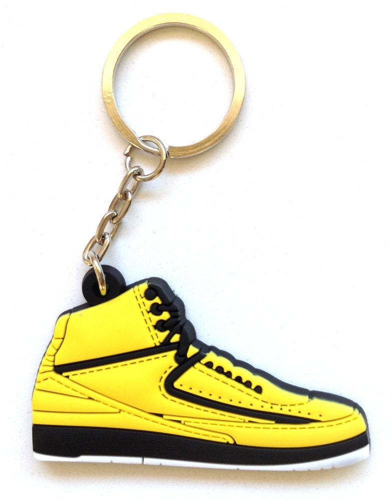 low priced 4aef1 9b1a8 Amazon.com  Air Jordan 2 II OG Candy Pack Yellow Sneakers Shoes 2D Keychain  Keyring Keyloop  Everything Else