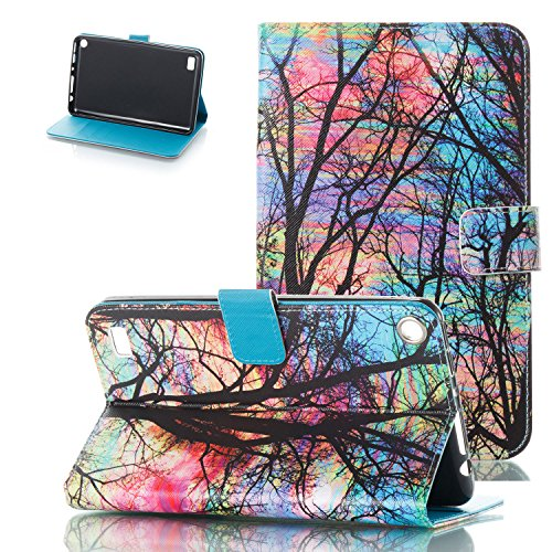 Kindle Fire 7 2017/2015 Case, Motie [Kickstand] [Auto Wake/Sleep] Slim Folio Protective Cover with Multi Angle Viewing for Amazon Fire 7 7th/ 5th Generation, Oil Painting Tree by Motie