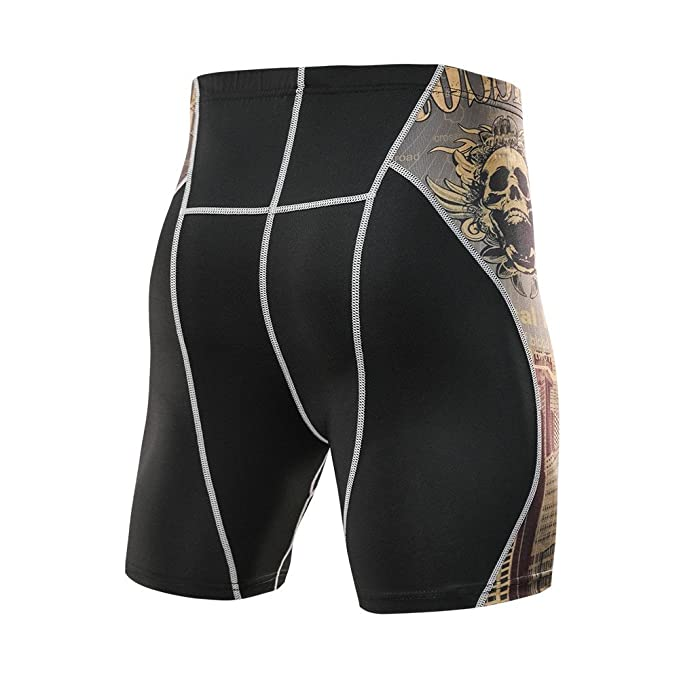 SamSoMon 2019 Bañador Hombre Chico Playa Poliéster Pantalon Corto Hombre Deporte Secado Rápido,Printed Workout