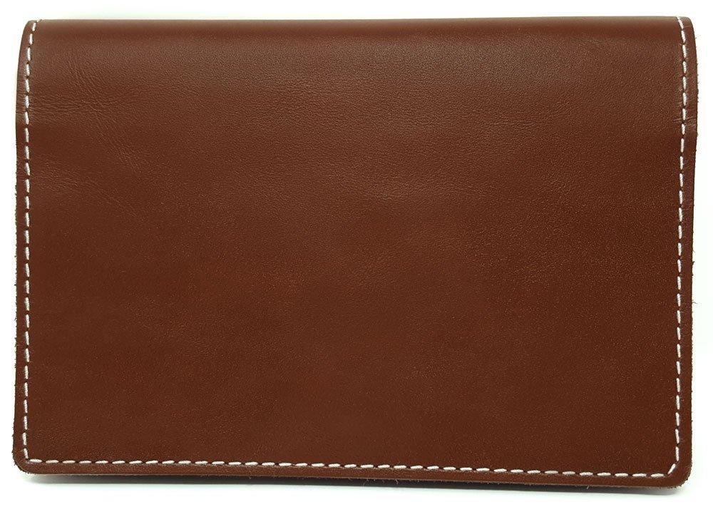 Kibodan Leather Pill Case Wallet - Weekly Pill Organizer (Dark Cognac) by Kibodan