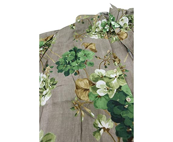 30e0d5b3a Gucci Men's Brown Viscose Green Bloom Geranium Print Shirt 401314 2389 (54  R, Brown): Amazon.ca: Clothing & Accessories