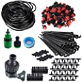 "Koram 100ft 1/4"" Blank Distribution Tubing Irrigation Gardener's Greenhouse Plant Cooling Suite Watering Drip Repair and Expansion Kit Accessories include Universal Spigot Connector IR-2F"
