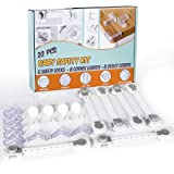 Baby Safety Kit - 22 Pcs Baby Proofing Set with Child Safety Locks, Cabinet Locks, Corner Protectors, Outlet Plug Protectors