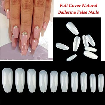 Beautiful 500 Pieces Full Cover French Artificial False Nail Tips For Diy In Box 2019 Official Nail Care, Manicure & Pedicure